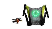 New products LED backpack accessory with trafficlight patterns