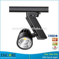 CREE COB High Brightness LED Illumination with 3 Single Circuit, RA COB Track Lights Spot with Black Shell