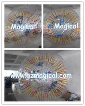 High quality inflatable fluorescence zorb ball,dark night grass ball