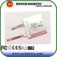 3.7v 14mah wrist watch battery Wearable device battery in stock