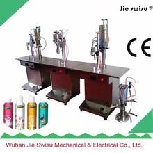 best quality Semi-Automatic aerosol filling machine for toilet spray perfume dispenser