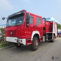 290hp 4*2 SINOTRUK HOWO Forest fire fighting truck 8000L
