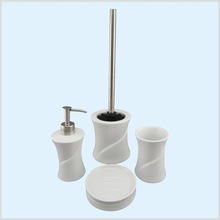 Elegant design white 4 pcs ceramic accessories for bathroom
