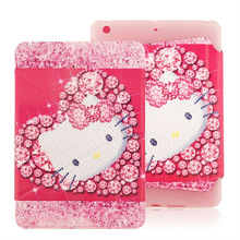 Cute protective multifunctional hello kitty tablet case for ipad mini