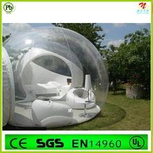 Romântico bonito PVC transparente tenda bolha inflável para venda