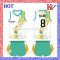 Sublimação custom voleibol uniformes da equipe de camisola, mulheres uniforme de vôlei