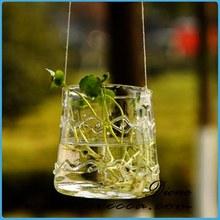 Best seller four kinds of martini glass vase hanging geometric glass terrarium box