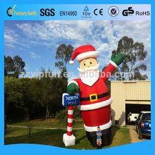 Cheap top sell 5m inflatable santa claus