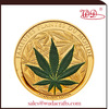 2015 new coming green leaf colored real gold coin