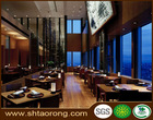 Durable wood tables and chairs for restaurant