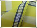 Fios de algodão 100% tingido amarelo camisas de tecido