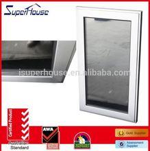 casement inward opening casement window with grill design hot sale or smart glass design
