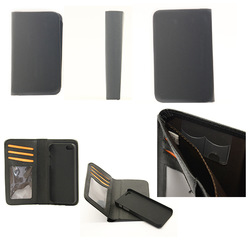 Hot sell fashion design removable PC shell mobile i phone 6 case wallet