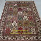 Four Season Design 5.5X8ft Pure Silk Turkish Knots Nain Hand Made Carpet