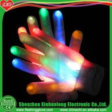 6 function flashing glove led multicolor nylon gloves
