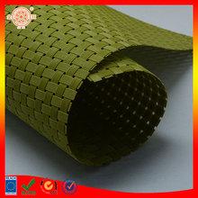 green color vinyl rattan material woven rattan material furniture rattan material green napkin uv protect place mat