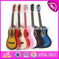 2015 nuevos hijos de la guitarra de madera, popular de madera niños guitarra, venta caliente para bebés de la guitarra eléctrica w07h029-3