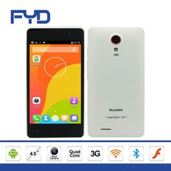 4.5 inch MTK6582 Quad core Dual SIM Android 4.4 WIFI Bluetooth 3G Mobile Phone