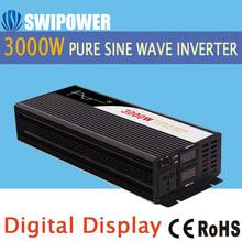 3000W pure sine wave solar power inverter DC 24V 12V 48V to AC 110V 220V digital display with Charger