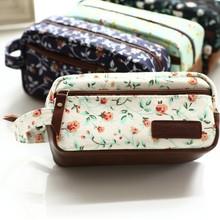 Korea Cute Floral cartoon zipper canvas pen bag 2015