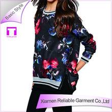 Wholesale cotton 180 grams pattern printed hoodies side split