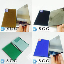 Super quality reflective glass for tempering, bronze grey blue green clear colors