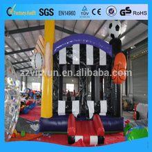 Super quality professional interesting inflatable santa castle