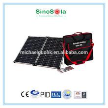 High standard,popular,good price monocrystalline 150w folding solar panel with TUV/CE/CEC/IEC/PID/ISO certificates