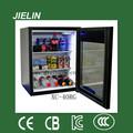extensão da longa vida e guarnição de madeira da porta de vidro instalação portátil 40l refrigerador de vinho refrigerador de cosméticos