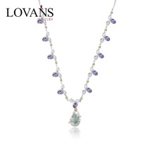 Hot Sale 2014 New Designs Silver Necklace Jewelry With Gemstone LWN0016