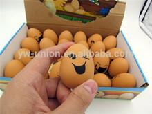 Creative emotional face egg stress ball