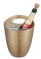 Novelty gold color plastic champagne cooler