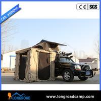 Single yurt shelter awning