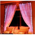 เปล่งแสงผ้าถักลูกไม้ผ้าม่านรูปแบบdiyม่านไฟฟ้า