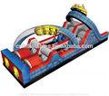 Cours de jeux de jeux pour enfants / gonflable rouleau - coaster parcours d'obstacles
