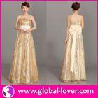 Hot style yellow tea length dress