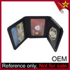 Original Metal Badge Logo Custom Man Genuine Leather Wallet