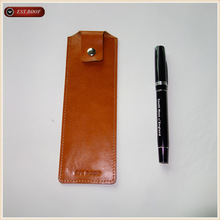 Gift design leather pen/stylus case,Genuine top layer cowhide pen case