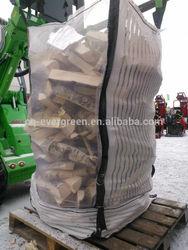 Bulk firewood bag with 2 discharge legs on the bottom, 90x90x120cm
