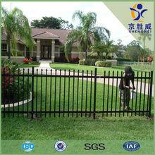 Shengwei fence - Powder coated black spear top security tubular gal steel panel