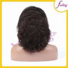 Heavy density brazilian hair human hair wigs natural grey wigs