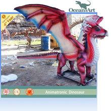 amusement park animatronic robot dinosaur model