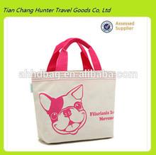 Custom logo canvas woman handbag , cotton hand bag
