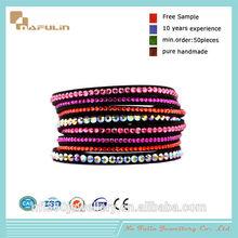 Popular fushia rhinestone slide bracelet letters