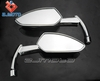 Motorcycle Grim Reaper Scythe Sickle Blade Style SIDE Mirror Gloss chrome Universal fit all Scooter