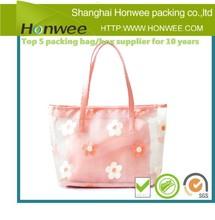 custom design big transparent plastic shopping packaging bag transparent plastic shopping packaging bag