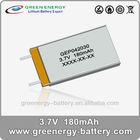 3.7v aw power tool battery GEP042030 180mah lithium li-polymer 3.7v battery powered model airplane