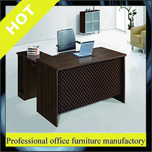 Newest design made in China white high gloss curved office desk