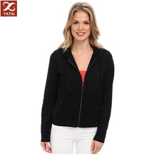women's elegant lined french terry hoodie