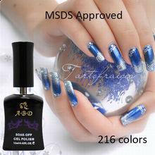 Professional 12ml uv color change nail gel more than 216 color uv gel nail salon wholesale